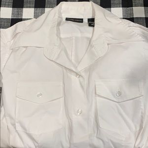 New York & Co White Dress Collar Shirt
